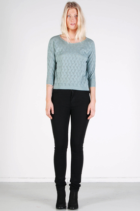 Maska: Elin Eyelet Top Mint Green