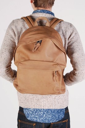 Eastpak: Padded Pak'r Antique Brown Leather