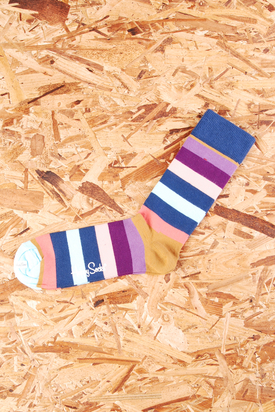 Happy Socks: Multistriped Blue/Brown/Purple