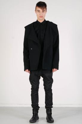 Odeur: Hooded Blazer Black