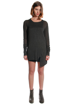 Odeur: Feather Knit Charcoal