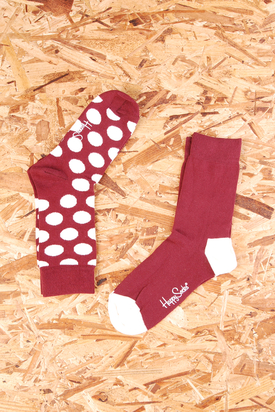 Happy Socks: PurpleDot/PurpleWht 2-Pack