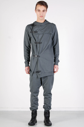 Odeur: Cover Hooded Cardigan Grey