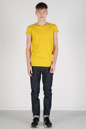 Knowledge Cotton Apparel: Basic O-neck Lemon Curry Tee