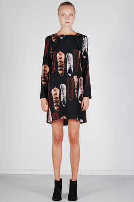 Carin Wester: Tiolina Fox Print Dress