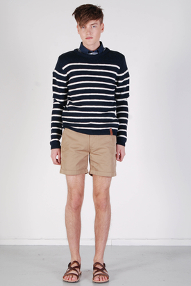 Knowledge Cotton App: Twisted Twill Beige Shorts