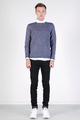 Sixpack France/Dead Hommes: Blurry Blue Pull Sweater