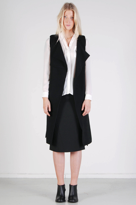 Noir & Blanc: Layer Vest Black