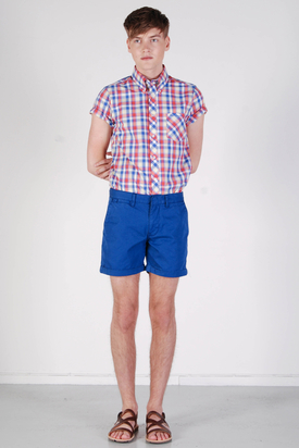 Knowledge Cotton App: Twisted Twill Limoges Shorts