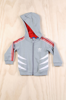 Adidas: Shark Hooded Flock Track Suit
