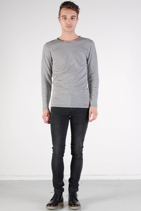 Knowledge Cotton Apparel: Double Layer Longsleeve Tee Striped