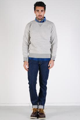Levis Vintage: 1950's Crew Sweatshirt Grey Melee