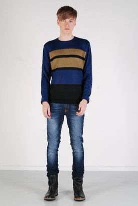 Cheap Monday: Streak Sweater Tobacco Black