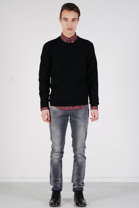Ben Sherman: Knit Wear Jet Roundneck Black