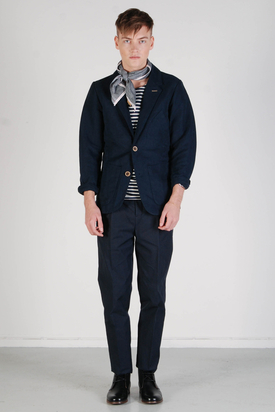 Elvine: Buck Moleskin Dark Navy Jacket