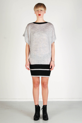 S'nob: Nestur Light Grey Melange Dress