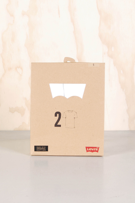 Levis: Crew Neck Tee White 2-Pack
