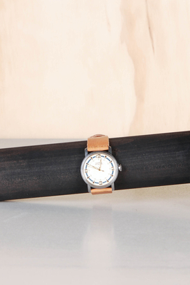 Nic & Mel: Walker Blue Cognac Watch