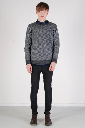 Dr Denim: Jackson Dark Grey Mix Sweater