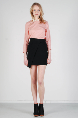 Noir & Blanc: Dip Skirt Black