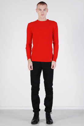 Knowledge Cotton Apparel: Basic Knit Aurora Red Without Owl