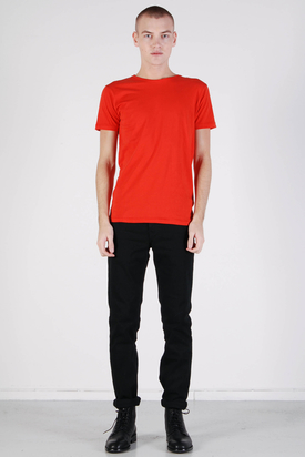 Knowledge Cotton Apparel: Basic O-neck Aurora Red Tee