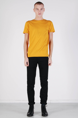 Knowledge Cotton Apparel: Basic O-neck Golden Yellow Tee