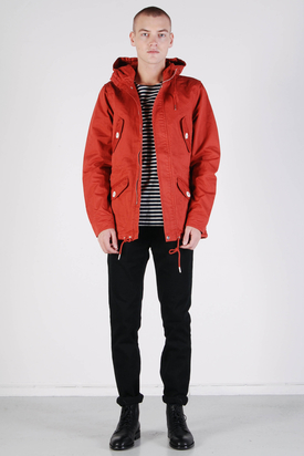 Elvine: Marlon Deep Orange Broken Twill Jacket