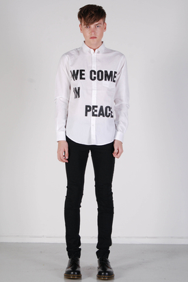 Cheap Monday: Loose Pocket Shirt We Come In Peace