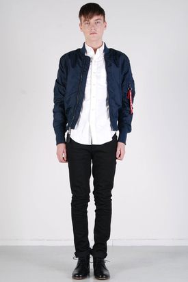Alpha Industries: MA-1 TT Bomber Spring Jacket Replica Blue