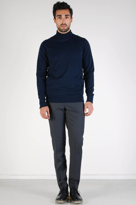 Ben Sherman: Staples Navy Turtleneck