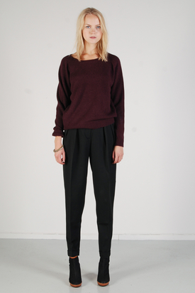 Samsøe & Samsøe: Judi O-neck Winetasting Sweater