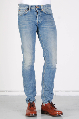 Edwin: ED-80 Slim Blue Bronco Light Wash