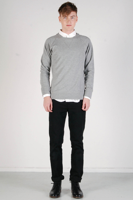 A.O.CMS: Crew-Neck Sweat Grey Melange