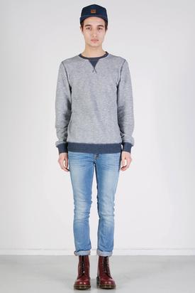 Nudie: Orlando Sweatshirt Offwhite/Blue