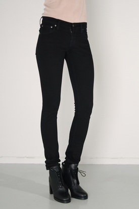 Nudie: Tight Long John Black Black Jeans