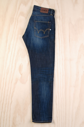Edwin: ED-55 Relaxed Dark Blue Rodeo Wash