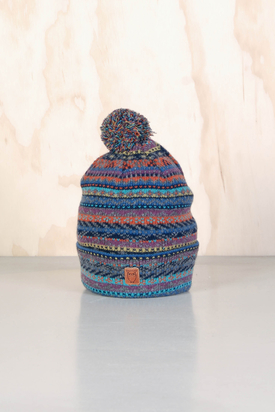 Knowledge Cotton: Multicolored Tassel Hat