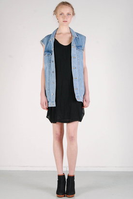 Cheap Monday: Taylor Denim Vest Light Trash