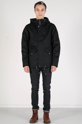 Elvine: Cornell Coated TC Black Jacket