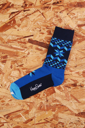 Happy Socks: Blue Patterned