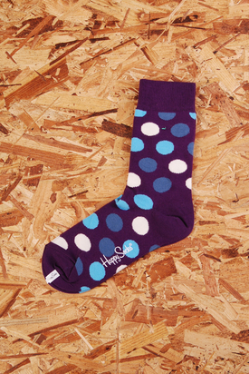 Happy Socks: Purple w. Dots