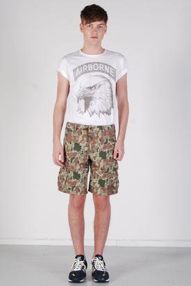 Edwin: Field Bermuda Camo Stone Wash Shorts