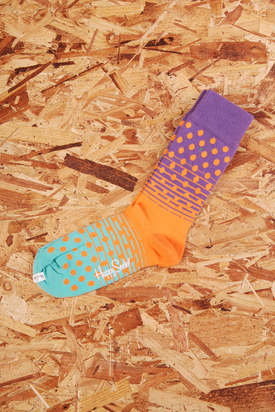 Happy Socks: Orange/Green/Purple Dot