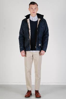 Brixtol: Cole Wax Navy Jacket