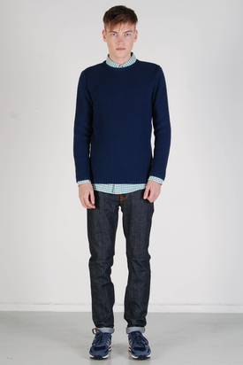 Knowledge Cotton Apparel: Round Textured Knit Sweater