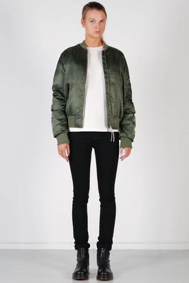 Adidas: W Bomber Jacket Green