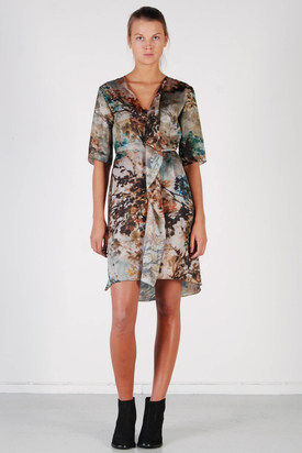 Billy and I: Lisa Impressionist Print Dress