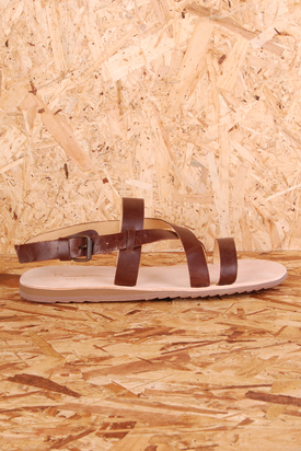 Knowledge Cotton: Gladiator Dark Earth Sandal