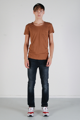 Dr Denim: Joey Dark Camel Tee